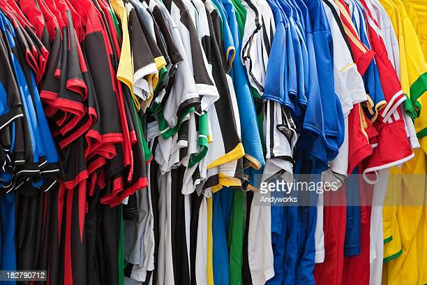soccer jerseys - sports jersey stock pictures, royalty-free photos & images
