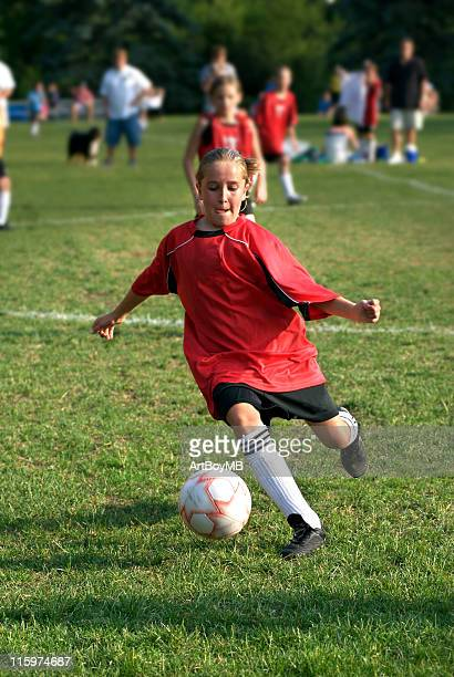 soccer kick - bottomless girls stock pictures, royalty-free photos & images