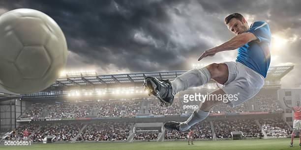 chute de futebol - futebol internacional - fotografias e filmes do acervo