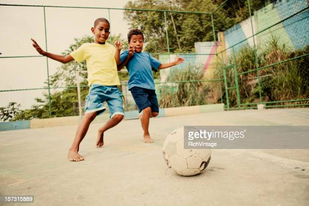 soccer kids - favela stock pictures, royalty-free photos & images