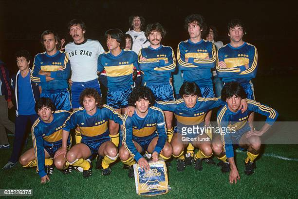 Soccer legend Diego Maradona playing an exhibition game with his team Boca Juniors against PSG who won 31