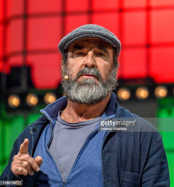 Soccer legend Eric Cantona Global Ambassador Common Goal and Cofounder Common Goal Jürgen Griesbeck present onstage their project Changing the world...