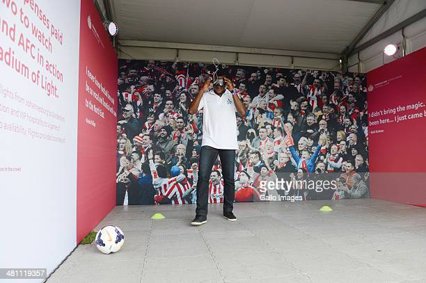 Soccer Legend Marcel Desailly during the Barclays Premier League Live event on March 28 in Johannesburg, South Africa.