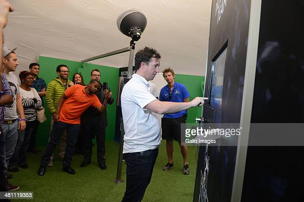 Soccer Legend Robbie Fowler during the Barclays Premier League Live event on March 28 in Johannesburg, South Africa.
