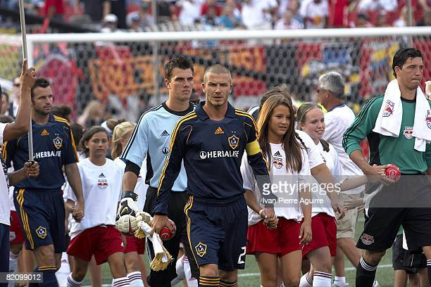 Los Angeles Galaxy David Beckham entering field during player introductions before game vs New York Red Bulls. East Rutherford, NJ 7/19/2008 CREDIT:...