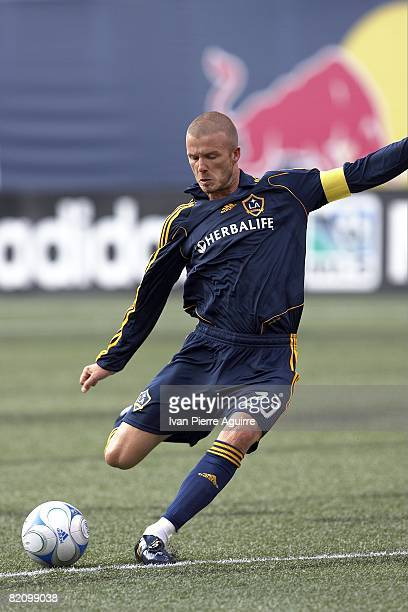 Los Angeles Galaxy David Beckham in action vs New York Red Bulls. East Rutherford, NJ 7/19/2008 CREDIT: Ivan Pierre Aguirre