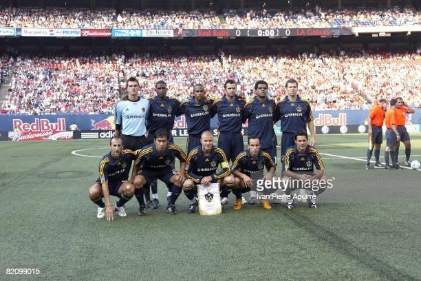 Los Angeles Galaxy team portrait before game vs New York Red Bulls East Rutherford NJ 7/19/2008 CREDIT Ivan Pierre Aguirre