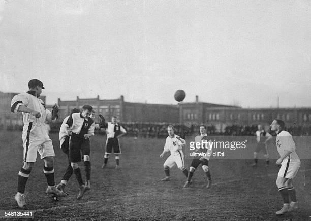 Soccer match in Berlin Berliner BallspielKlub playing against BFC Britannia 92 from Berlin 1907 1907 Photographer Herbert Hoffmann Published by...