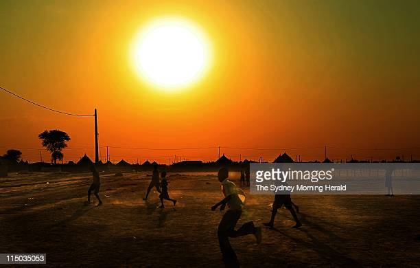 Soccer match South Sudan Children play football on a pitch that was levelled by the United Nations The team from Mulmul in Abyei town was recently...