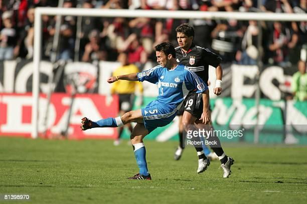 Soccer MLS Cup Kansas City Wizards Kerry Zavagnin in action vs DC United Jaime Moreno Carson CA