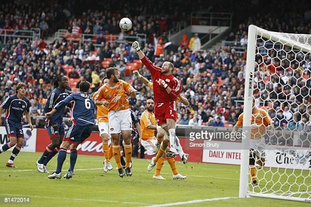 Soccer MLS Cup New England Revolution goalie Matt Reis in action punching ball away vs Houston Dynamo Washington DC