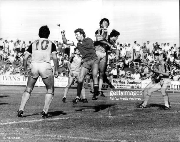 Soccer - National League - National Cup Final at Barton Stadium - Sydney Olympians vs Heidelberg Melbourne. November 4, 1983. .
