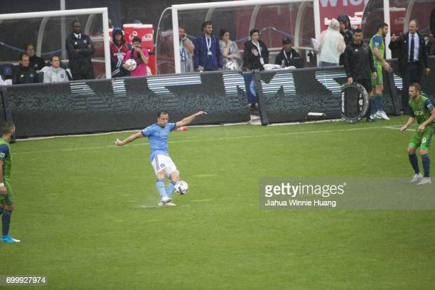 New York City FC RJ Allen in action vs Seattle Sounders FC at Yankee Stadium Bronx NY CREDIT Jiahua Winnie Huang