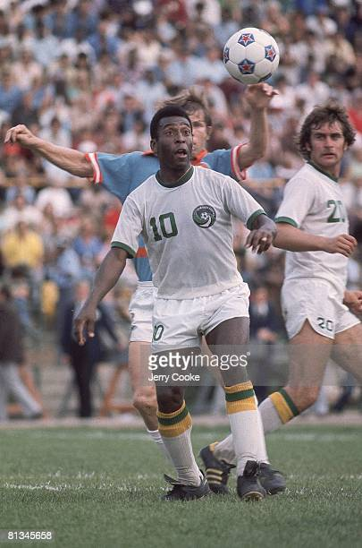 New York Cosmos Pele in action vs Dallas Tornado at Downing Stadium New York NY 6/15/1975