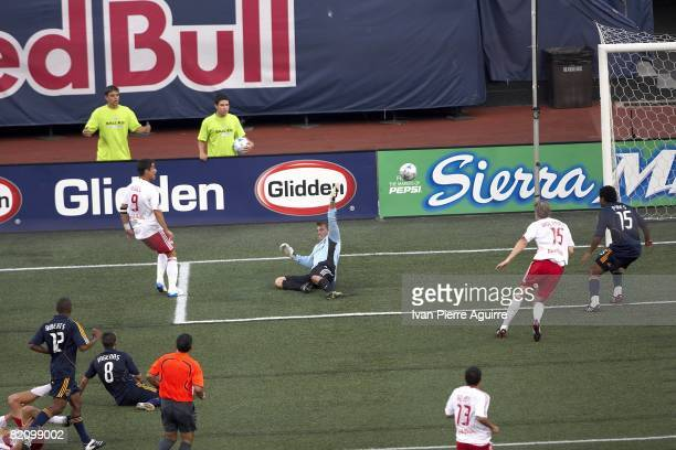New York Red Bulls Juan Pablo Angel in action scoring goal during game vs Los Angeles Galaxy. East Rutherford, NJ 7/19/2008 CREDIT: Ivan Pierre...
