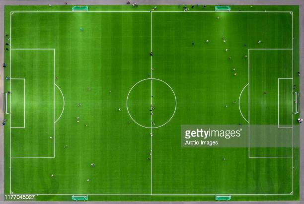soccer or football field - voetbalveld stockfoto's en -beelden