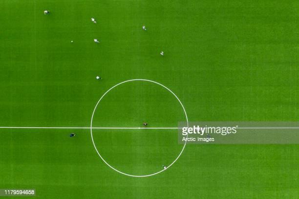 soccer or football field - practice game. - fußballplatz stock-fotos und bilder