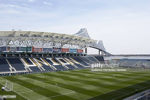 Overall view of field and stadium before Philadelphia Union vs Houston Dynamo game at PPL Park Scenic Chester PA CREDIT Guillermo Hernandez Martinez