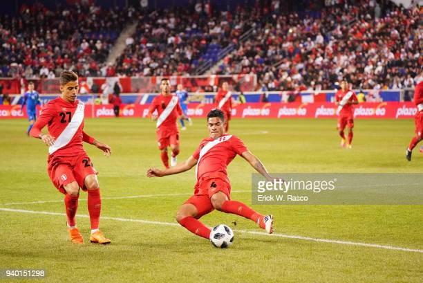 Peru Anderson Santamaria in action vs Iceland during International Friendly at Red Bull Arena Harrison NJ CREDIT Erick W Rasco