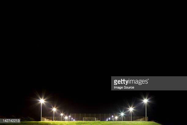 Soccer pitch at night