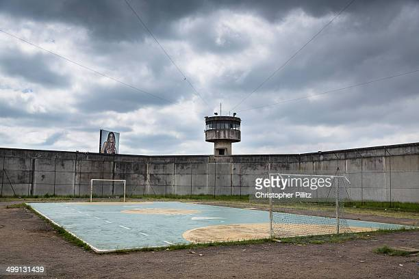 Soccer pitch inside high security prison