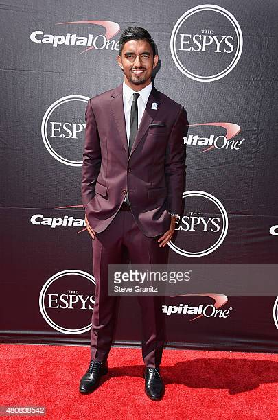 Soccer player A J DeLaGarza attends The 2015 ESPYS at Microsoft Theater on July 15 2015 in Los Angeles California