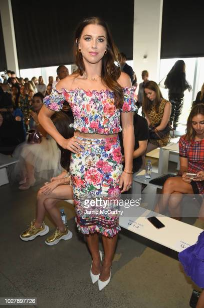 Soccer player Alex Morgan attends the Tadashi Shoji front row during New York Fashion Week The Shows at Gallery I at Spring Studios on September 6...