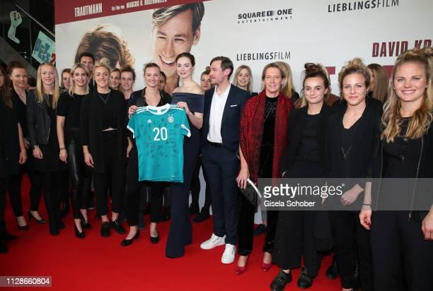 Soccer player Alexandra Popp Freya Mavor David Kross Martina VossTecklenburg Coach of the German national female football team and team during the...