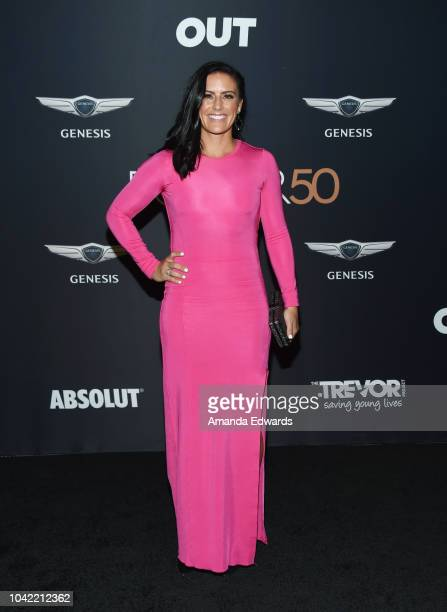 Soccer player Ali Krieger arrives at OUT Magazine's Annual Power 50 Celebration at NeueHouse Hollywood on September 27 2018 in Los Angeles California