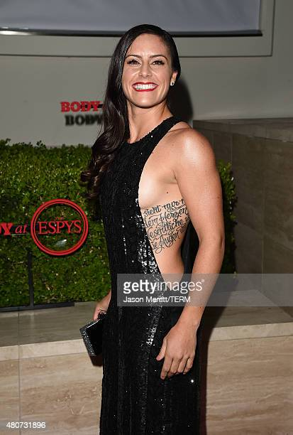 Soccer player Ali Krieger attends BODY at ESPYs at Milk Studios on July 14 2015 in Hollywood California