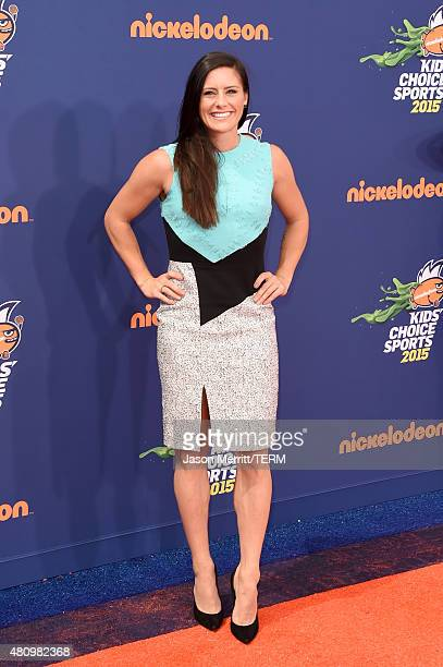 USWNT soccer player Ali Krieger attends the Nickelodeon Kids' Choice Sports Awards 2015 at UCLA's Pauley Pavilion on July 16 2015 in Westwood...