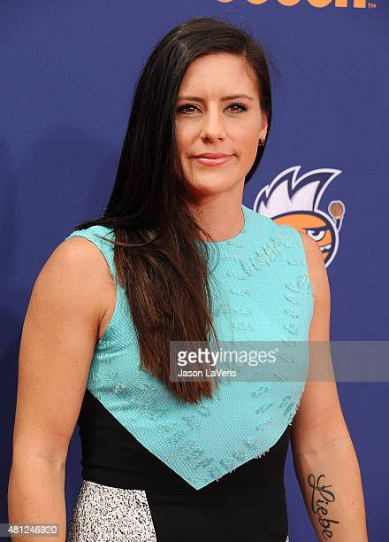 Soccer player Ali Krieger attends the Nickelodeon Kids' Choice Sports Awards at UCLA's Pauley Pavilion on July 16 2015 in Westwood California