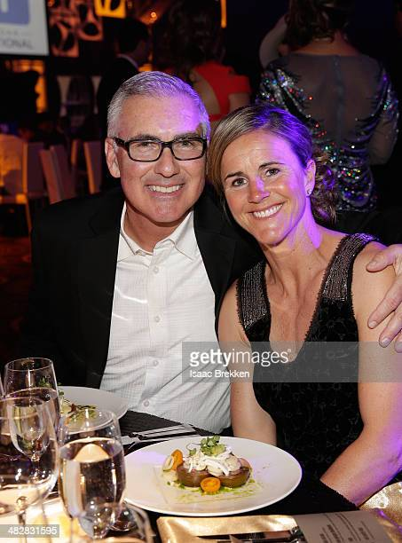 Soccer player and broadcaster Brandi Chastain and husband Jerry Smith attend the 13th annual Michael Jordan Celebrity Invitational gala at the ARIA...