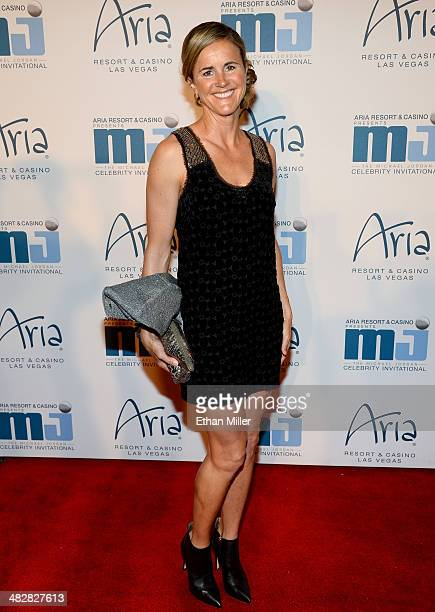Soccer player and broadcaster Brandi Chastain arrives at the 13th annual Michael Jordan Celebrity Invitational gala at the ARIA Resort Casino at...
