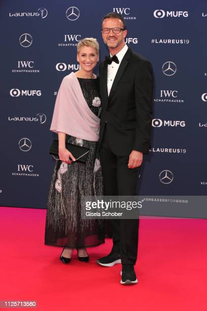 Soccer player and Coach Fredi Bobic and his wife Britta Bobic during the Laureus World Sports Awards 2019 at Monte Carlo Sporting Club on February 18...