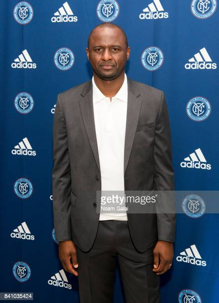 Soccer player and head coach of NYCFC Patrick Vieira attends the NYCFC popup experience store VIP launch party on August 30 2017 in New York City
