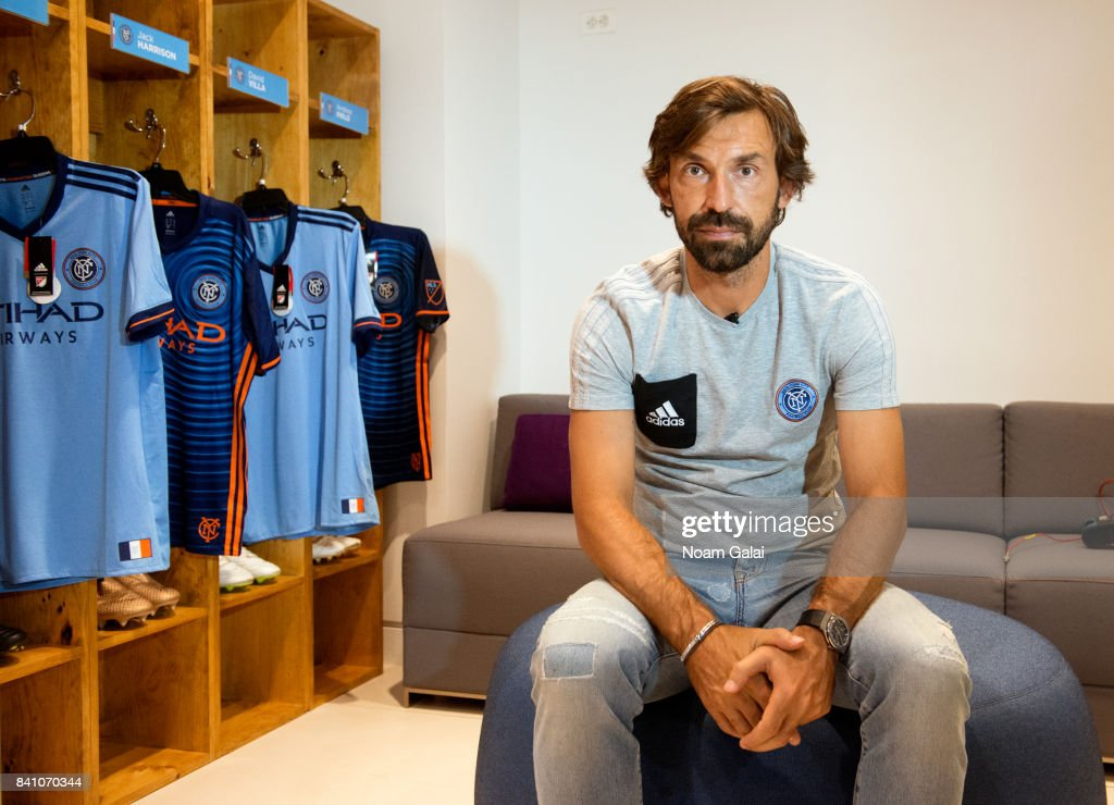 Soccer player Andrea Pirlo attends the NYCFC pop-up experience store VIP launch party on August 30, 2017 in New York City.