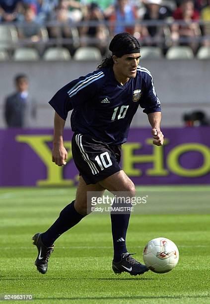 Soccer player Ariel Ortega