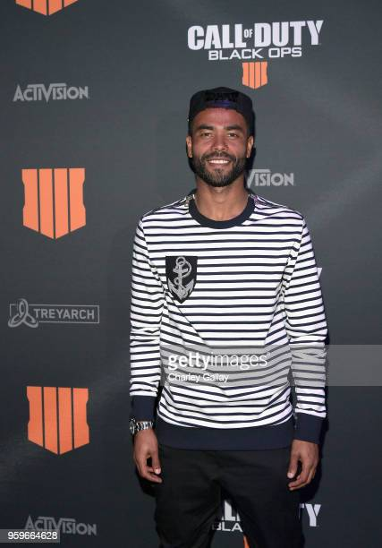 Soccer player Ashley Cole arrives on the black carpet at the Call of Duty Black Ops 4 Community Reveal Event in Hawthorne CA on May 17 2018