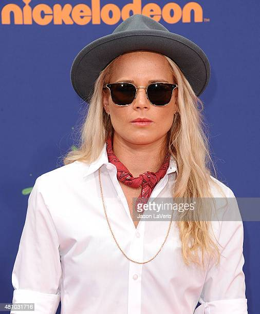 USWNT soccer player Ashlyn Harris attends the Nickelodeon Kids' Choice Sports Awards at UCLA's Pauley Pavilion on July 16 2015 in Westwood California