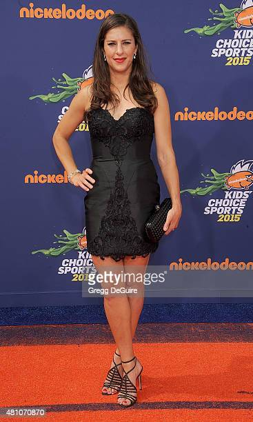 USA soccer player Carli Lloyd arrives at the Nickelodeon Kids' Choice Sports Awards 2015 at UCLA's Pauley Pavilion on July 16 2015 in Westwood...