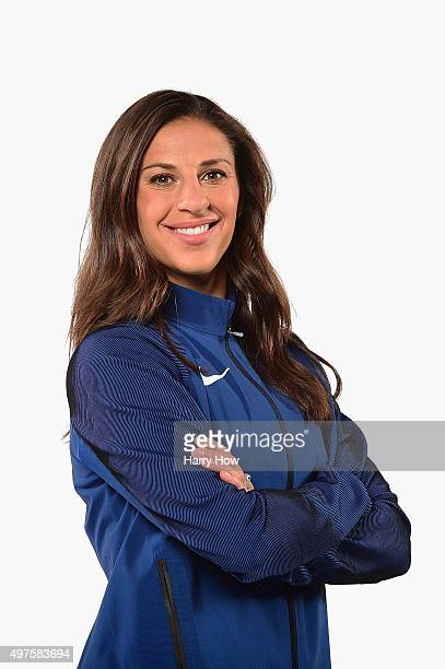 Soccer player Carli Lloyd poses for a portrait at the USOC Rio Olympics Shoot at Quixote Studios on November 17 2015 in Los Angeles California
