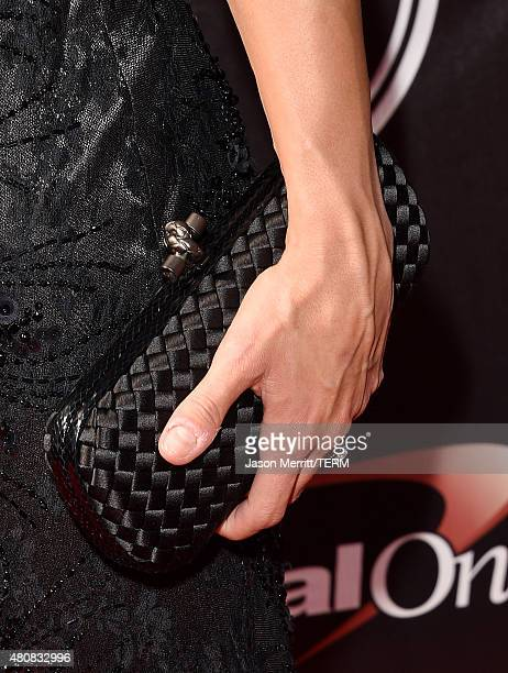 USWNT soccer player Carli Lloyd purse detail attends The 2015 ESPYS at Microsoft Theater on July 15 2015 in Los Angeles California