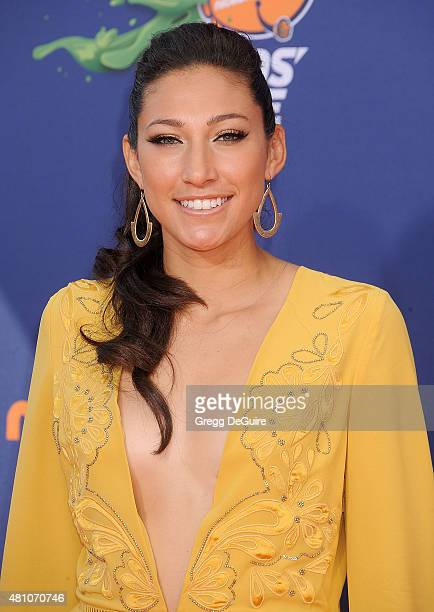 USA soccer player Christen Press arrives at the Nickelodeon Kids' Choice Sports Awards 2015 at UCLA's Pauley Pavilion on July 16 2015 in Westwood...