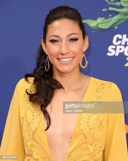 Soccer player Christen Press attends the Nickelodeon Kids' Choice Sports Awards at UCLA's Pauley Pavilion on July 16 2015 in Westwood California