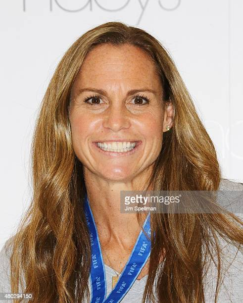 Soccer player Christie Rampone visits Macy's Herald Square on July 10 2015 in New York City