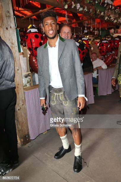 Soccer player Coman Kingsley during the 'FC Bayern Wies'n' as part of the Oktoberfest at Theresienwiese on September 23 2017 in Munich Germany
