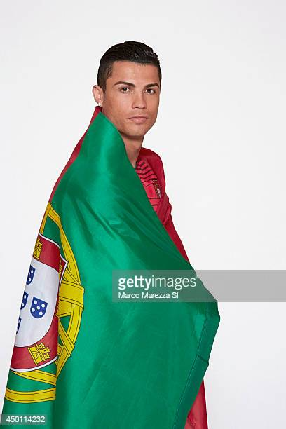 Soccer player Cristiano Ronaldo is photographed for Sports Illustrated on May 30 2014 in Lisbon Portugal COVER IMAGE CREDIT MUST READ Marco...