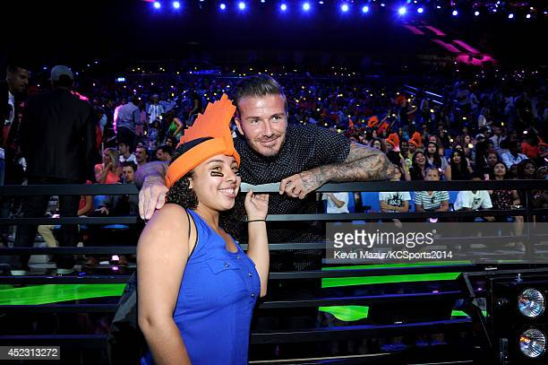Soccer player Daivd Beckham attends Nickelodeon Kids' Choice Sports Awards 2014 at UCLA's Pauley Pavilion on July 17 2014 in Los Angeles California