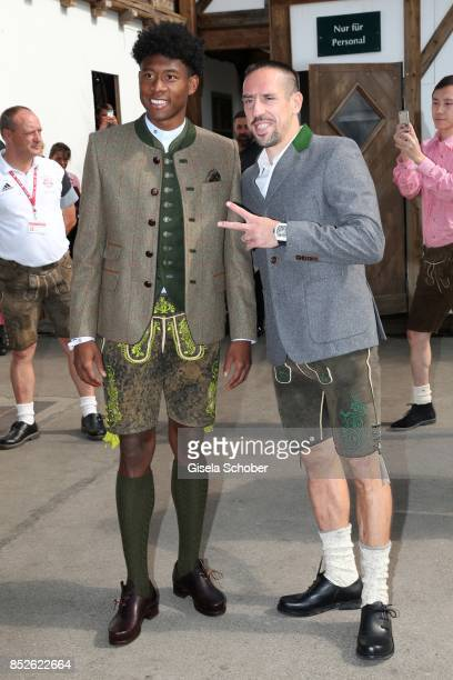 Soccer player David Alaba and Franck Ribery during the FC Bayern Wies'n as part of the Oktoberfest at Theresienwiese on September 23 2017 in Munich...